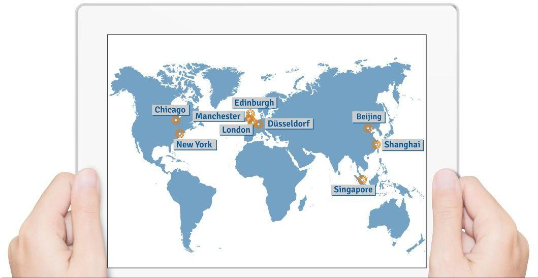 B2B market research company international office locations
